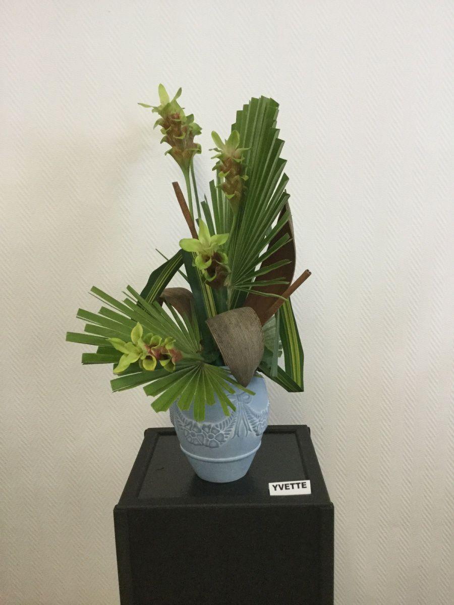 Pandanus, Chamerops, Fleur de Curcuma, Coque de palmier, Cannelle, Fibre de Palmier.