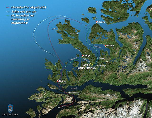 Norvège et tunnel pour bateaux
