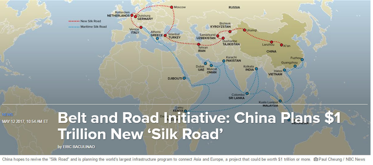 CHINE :&quot&#x3B;La Ceinture et la Route&quot&#x3B; -  &quot&#x3B;one belt, one road' (OBOR)