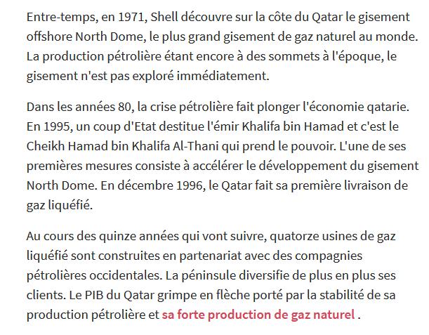 QATAR : de l'indépendance en 1971 à la Crise géopolitique de 2017