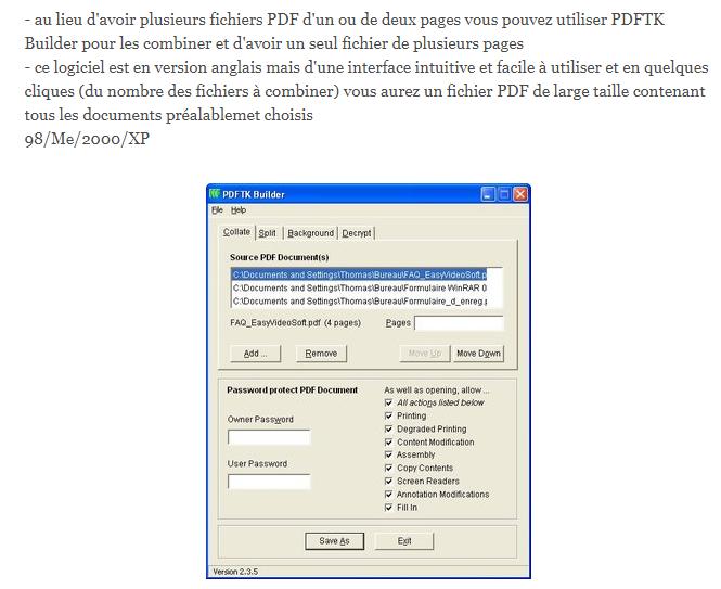 Faire un PDF , Convertir un Document , applications pratiques