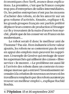 les Robots et l'Emploi