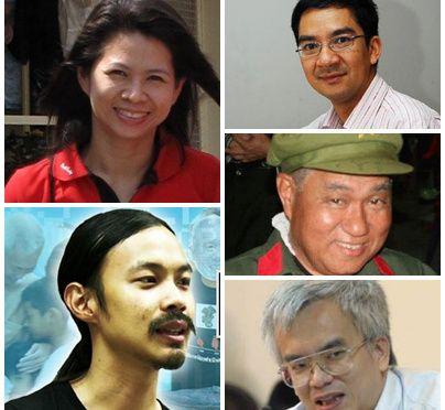 Certains des militants pro-démocratie qui ont reçu l'ordre de se livrer à la junte militaire