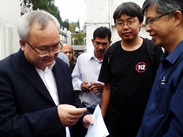 Manifestation contre Prayuth devant l'ambassade de Thaïlande à Kuala Lumpur (3)
