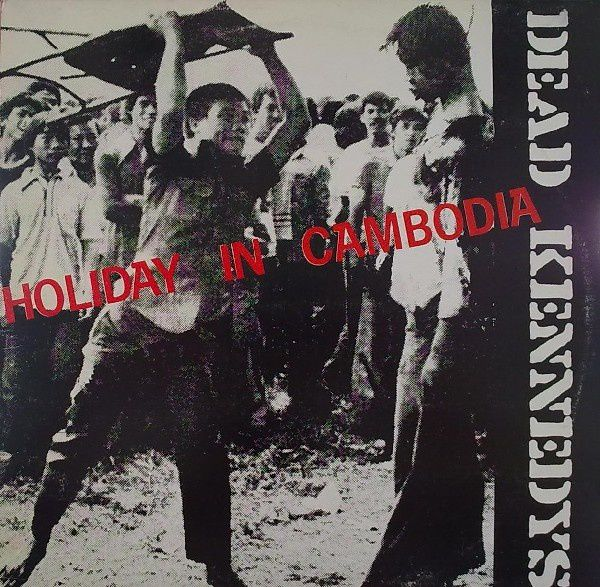 "La photo de la ""chaise"" en couverture d'un album des Dead Kennedys intitulé ""Holiday in Cambodia"""