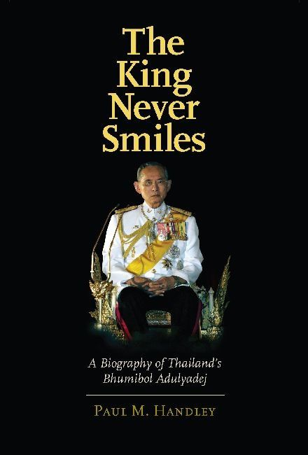 "La couverture du livre ""The King Never Smile"""
