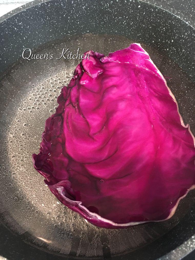 fagottini di cavolo viola ripieni di zucca e quinoa
