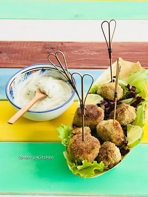 lollipop di tacchino con salsa allo yogurt