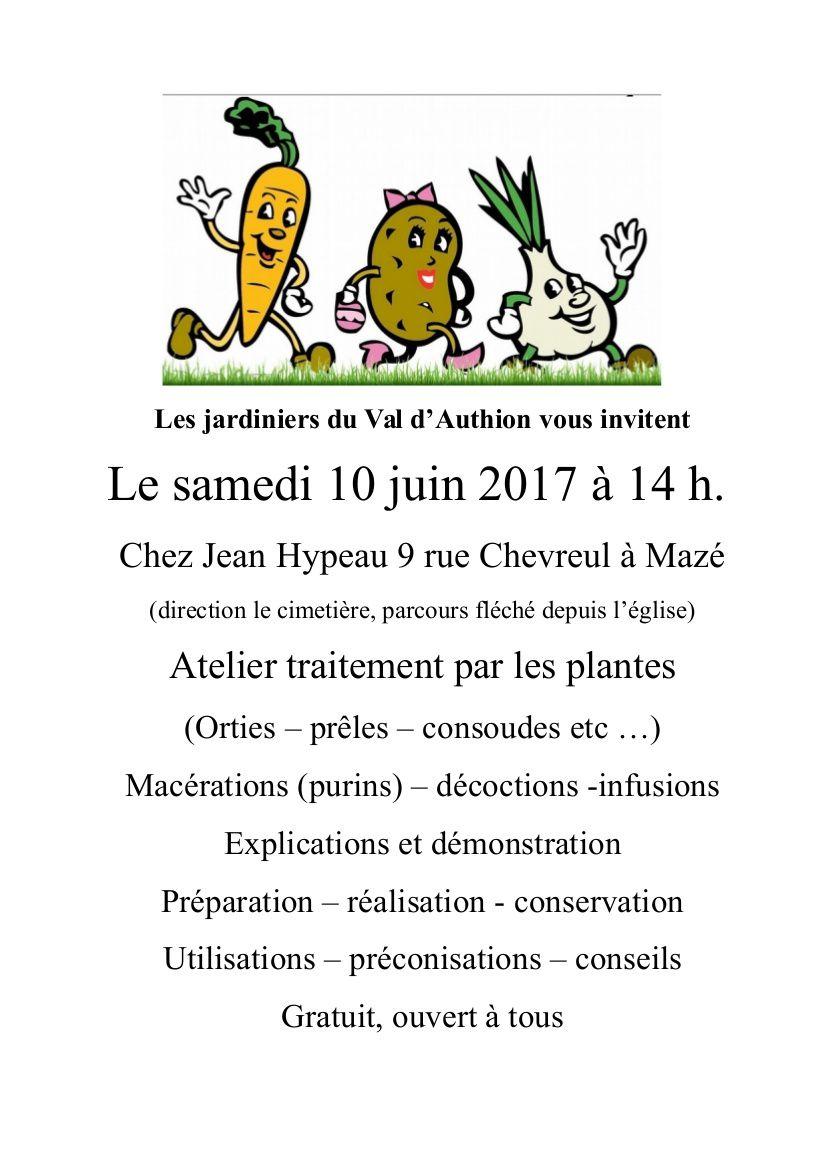 Les jardiniers du Val d'Authion invitent...