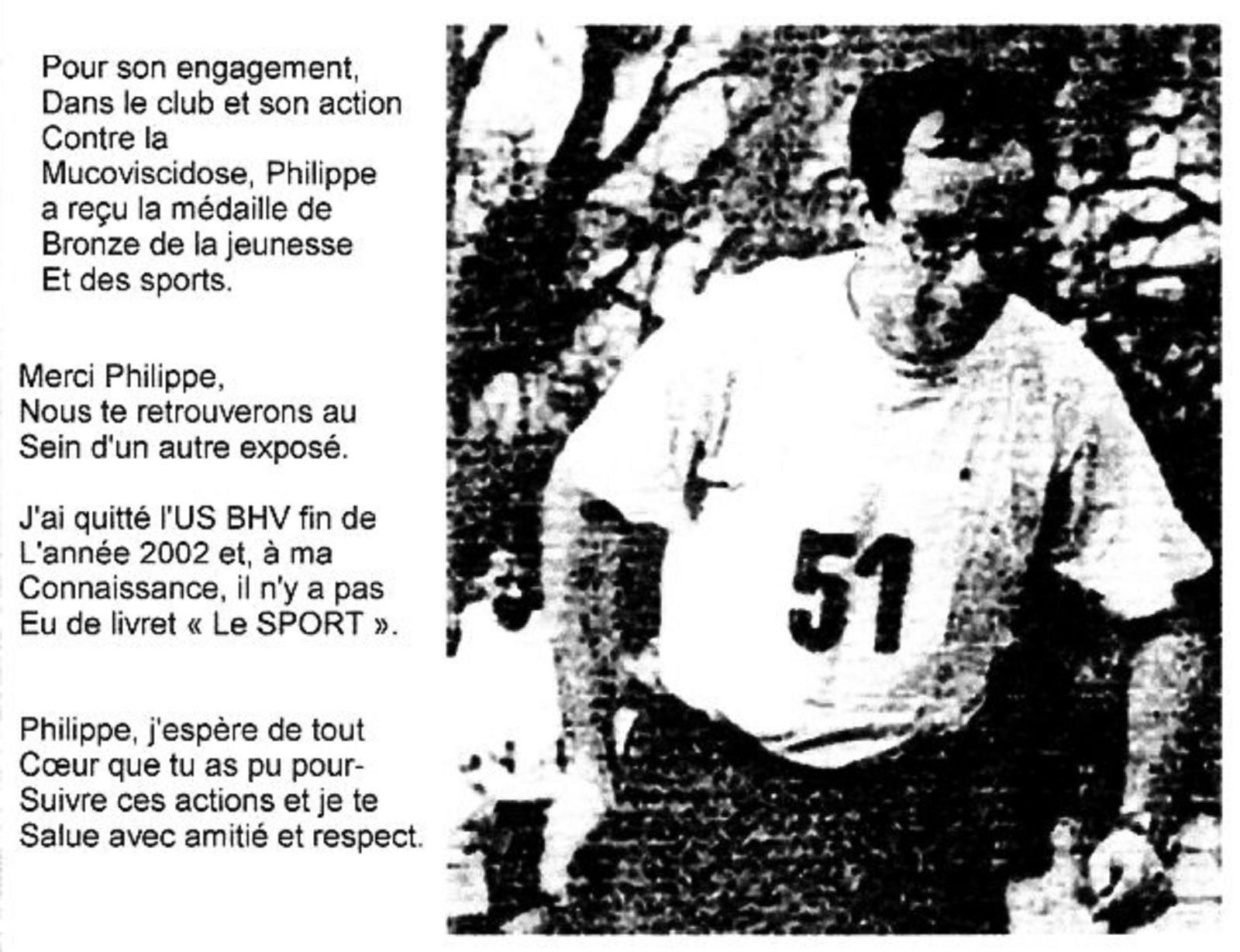 Actualité et histoire de  l'union sportive du BHV, par Jean-Pierre Franssens.