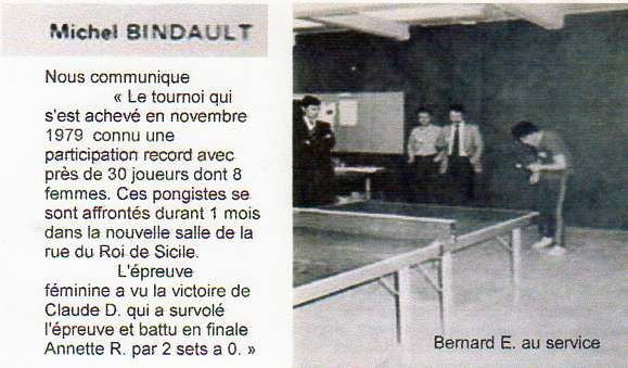 US BHV Période 2 …Tennis de table 1/2