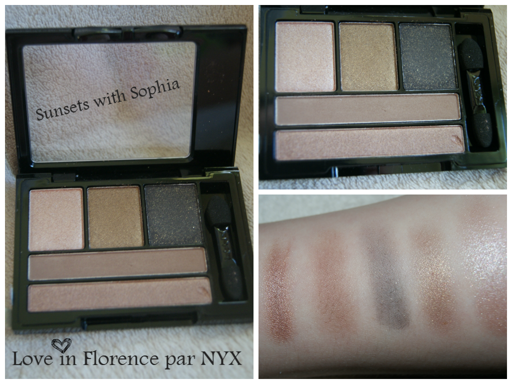 NYX Love in Florence, palette Sunsets with Sophia