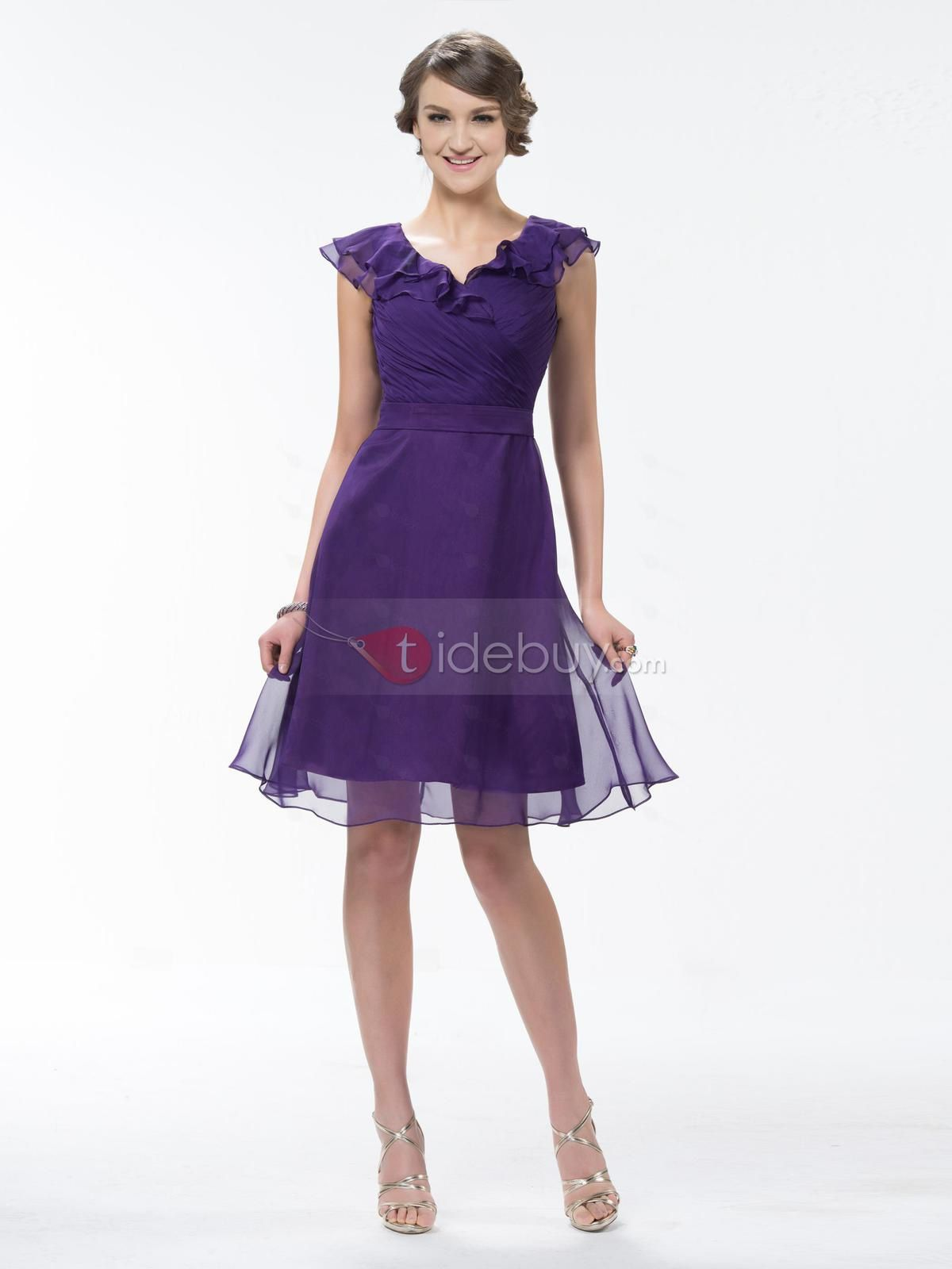 robe en mousseline prune