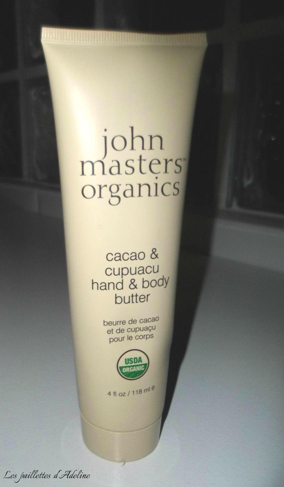 Beurre mains &amp&#x3B; corps au cacao et cupuaçu de John Masters Organics