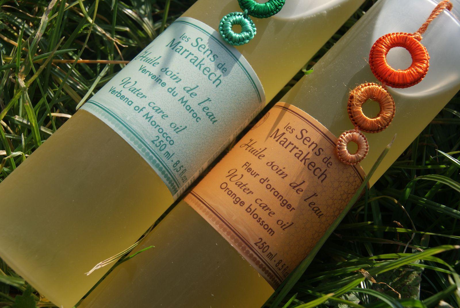 Les huiles à rincer &quot&#x3B;Soin de l'eau&quot&#x3B; Les Sens de Marrakech