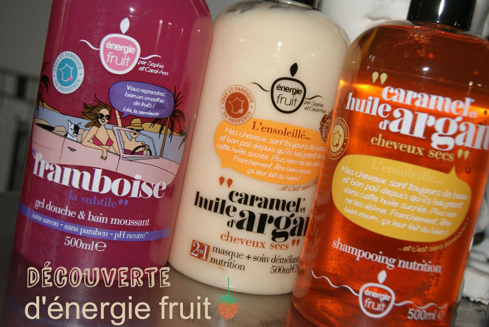 Energy Fruit, Gel douche, Shampoing et Après-shampoing, je vous dis tout