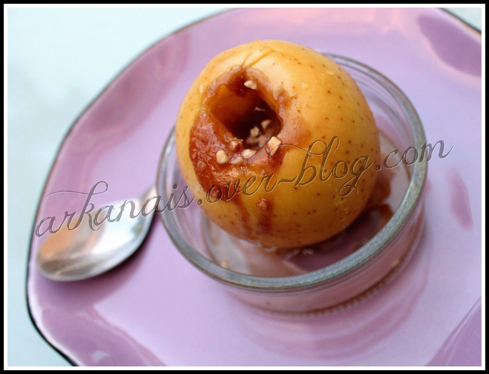 Pomme fourrée Crème de Marrons et Pralin