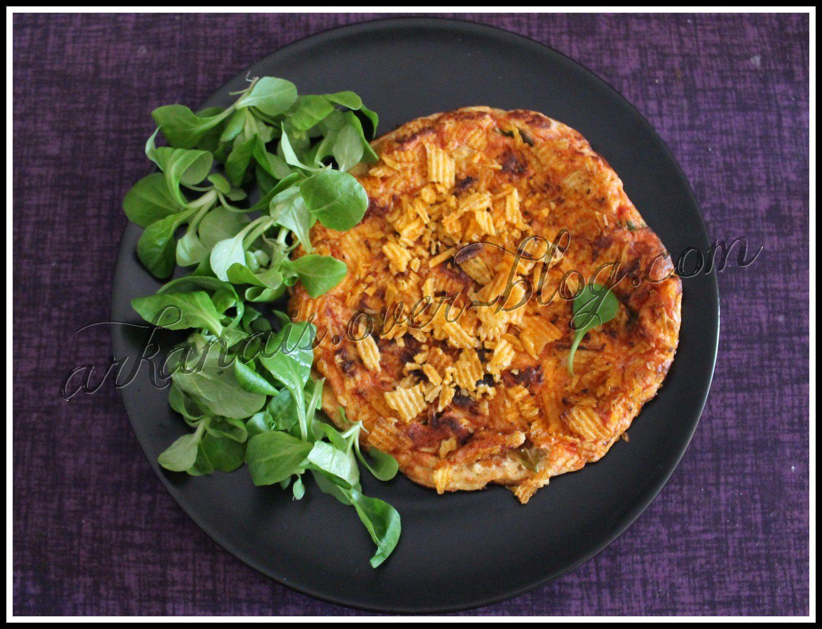 Cuisiner avec des chips - Omelette Bolognaise
