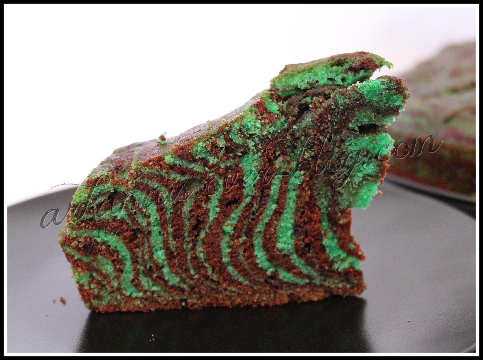 Zébra Cake Chocolat Menthe