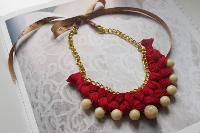 DIY : Collier tresse folk