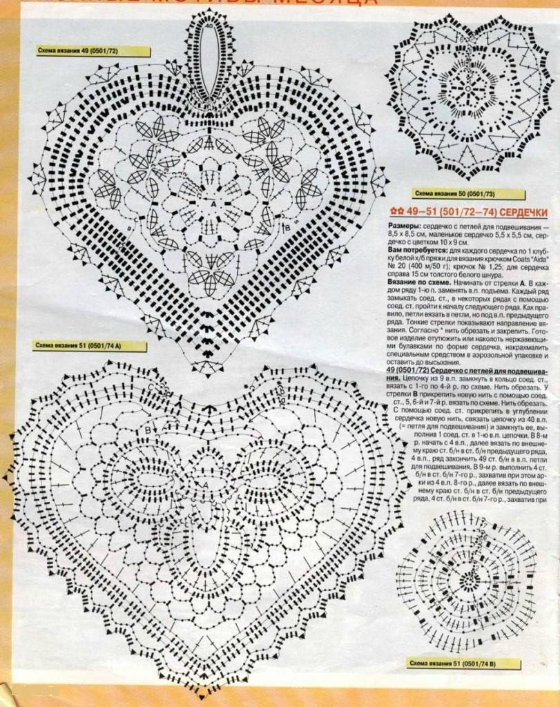 Des cœurs au crochet