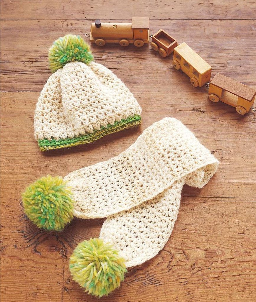 Bonnet et écharpe bébé au crochet