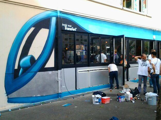 Retour à l école ce weekend , pour les meilleurs artistes de street art, avenue Lasserre.