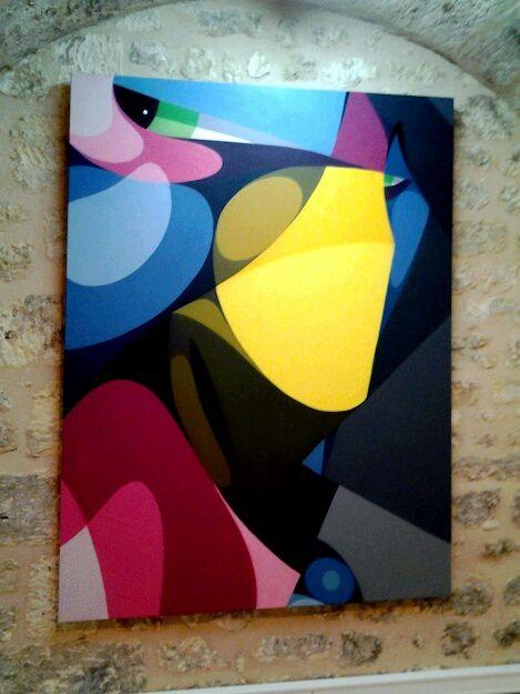 De magnifiques oeuvres , Alber, Hopare,   Brok,  Alex,,  ... dans une galerie entièrement dédiée au street art, rue Ferrere