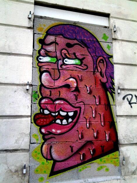 J ai découvert ces portraits signés Relik,  sur une maison arrêt tram La belle rose.