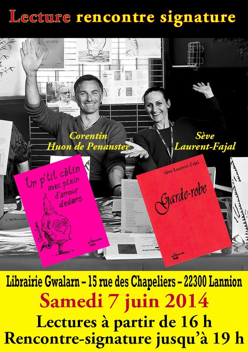 Lecture-Dédicace avec Sève Laurent-Fajal et Corentin Huon de Penanster