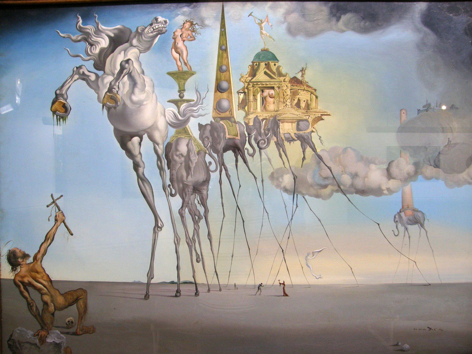 La tentation de Saint Antoine (Dali)... Belle mécanique de la séduction!