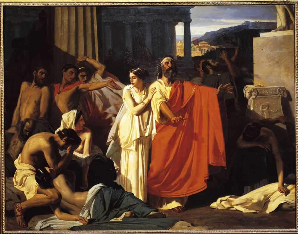 the role of chorus in socrates play antigone Antigone - the play's tragic heroine the chorus frames the play with a prologue and epilogue, introducing the action and characters under the sign of fatality.