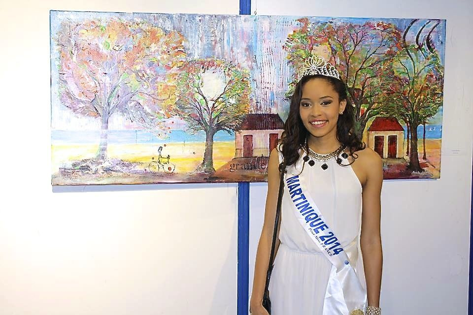 Visite de miss Martinique