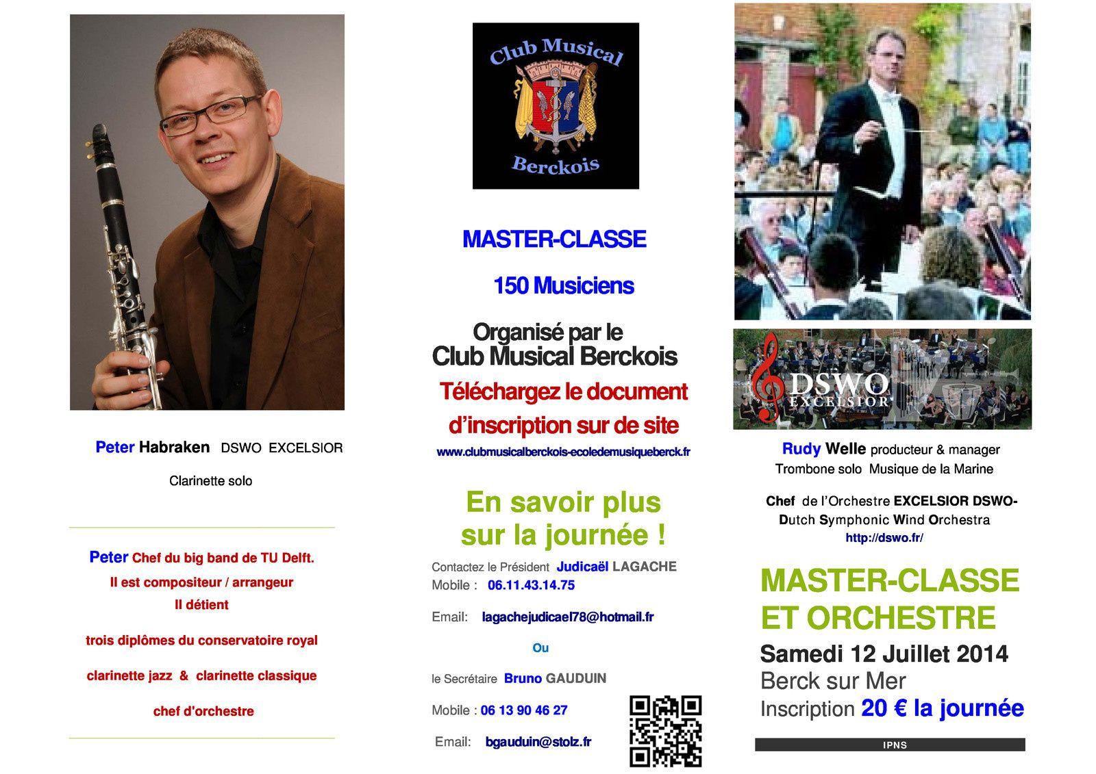 Master Class avec Rudy WELLE à Berck sur Mer
