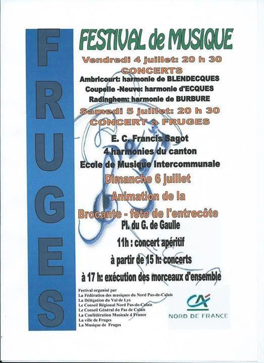Festival de Musique de Fruges, les 4, 5 et 6 juillet 2014