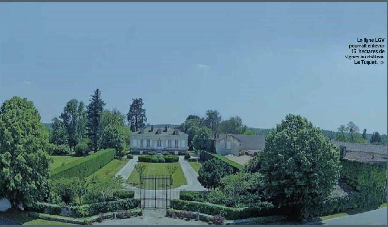 Vue du Château Le Tuquet sur le tracé de la LGV