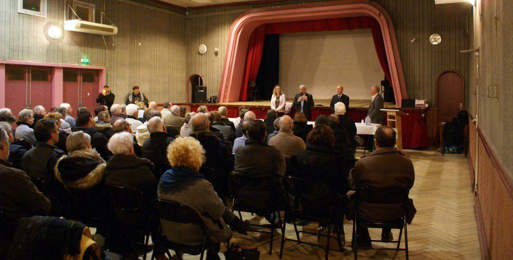 Réunion publique à St Médard d'Eyrans: LGVEA et élus confortés contre le GPSO