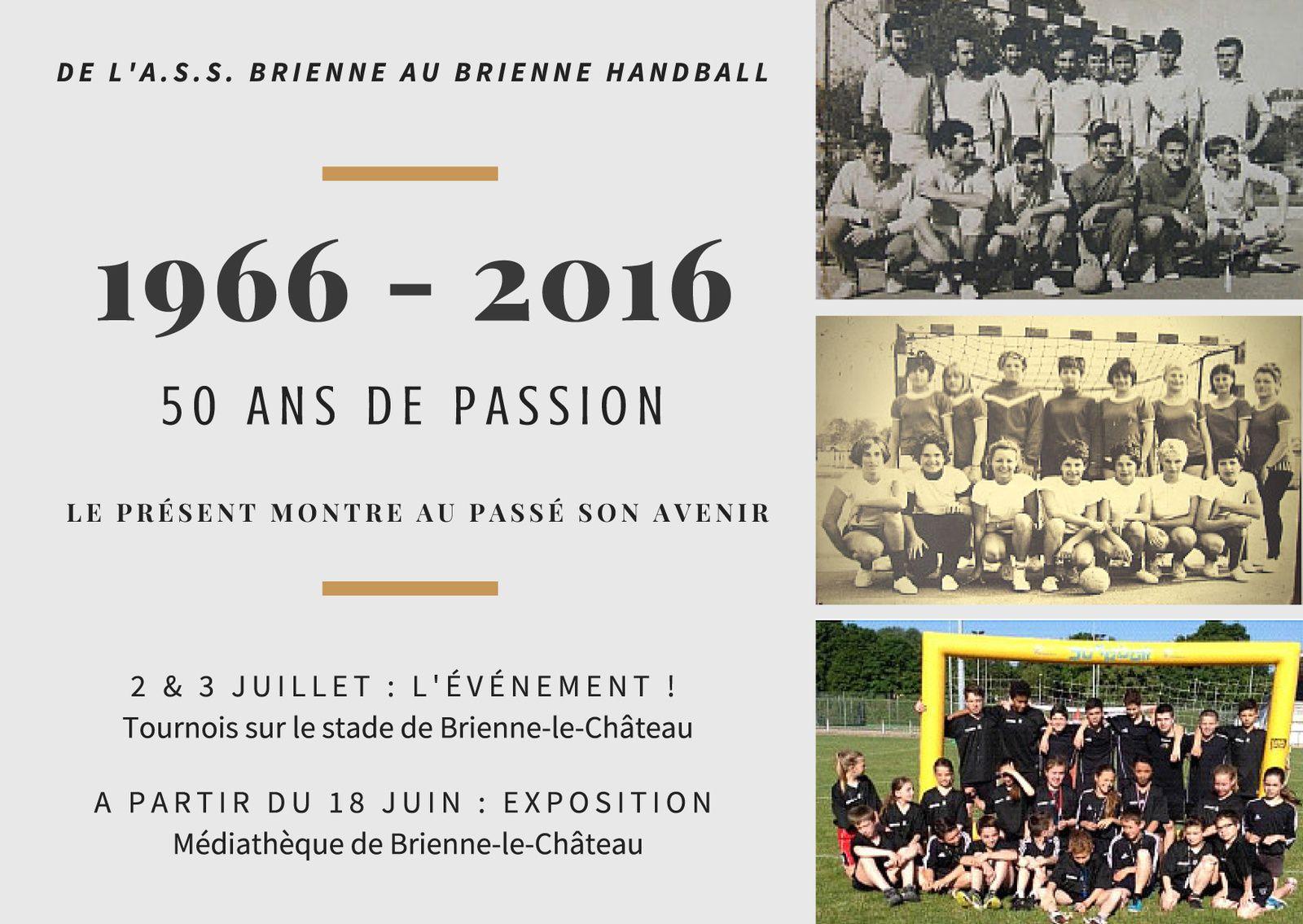 Le Handball fête ses 50 ans à Brienne-le-Château