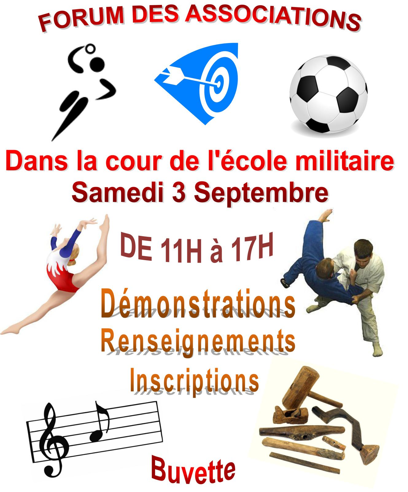 Le Forum des associations à Brienne, le 3 septembre