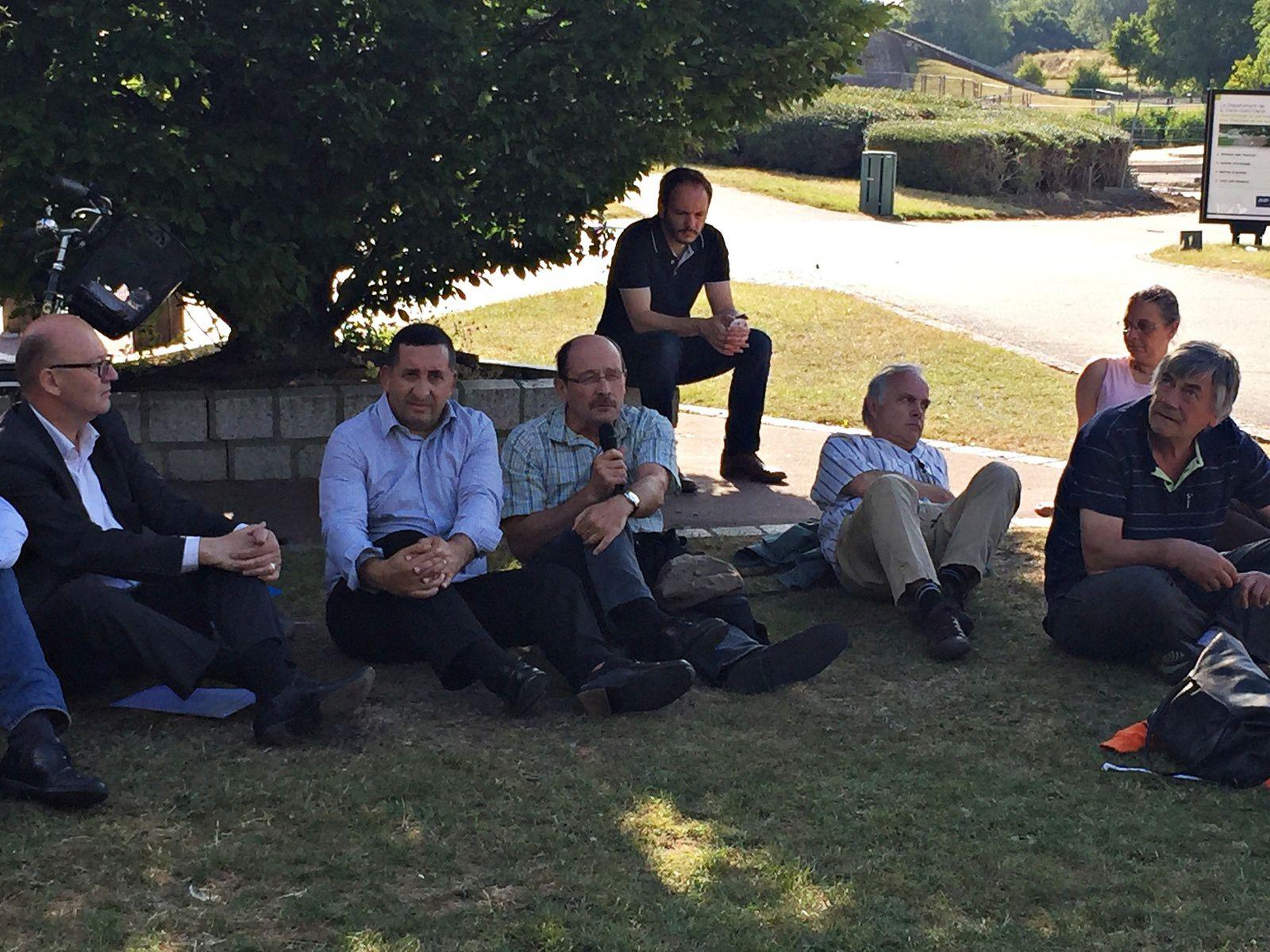 Rencontre avec les défenseurs du parc G. Valbon de la Courneuve