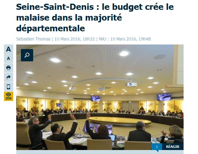 En réalité, contrairement à ce qu'indique dans l'article la légende de la photo, ce sont 4 et non 2 conseillers départementaux qui n'ont pas voté le budget.