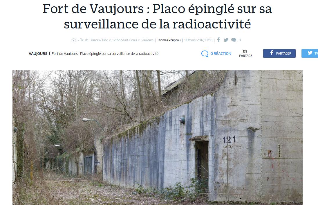 &quot&#x3B;Fort de Vaujours : Placo épinglé sur sa surveillance de la radioactivité&quot&#x3B;