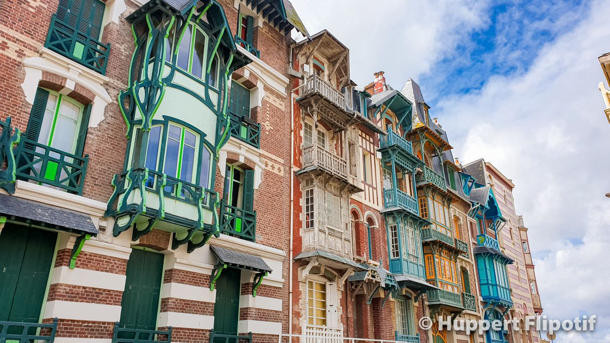 Villas à bow-windows de Mers-les-Bains, architecture Belle époque