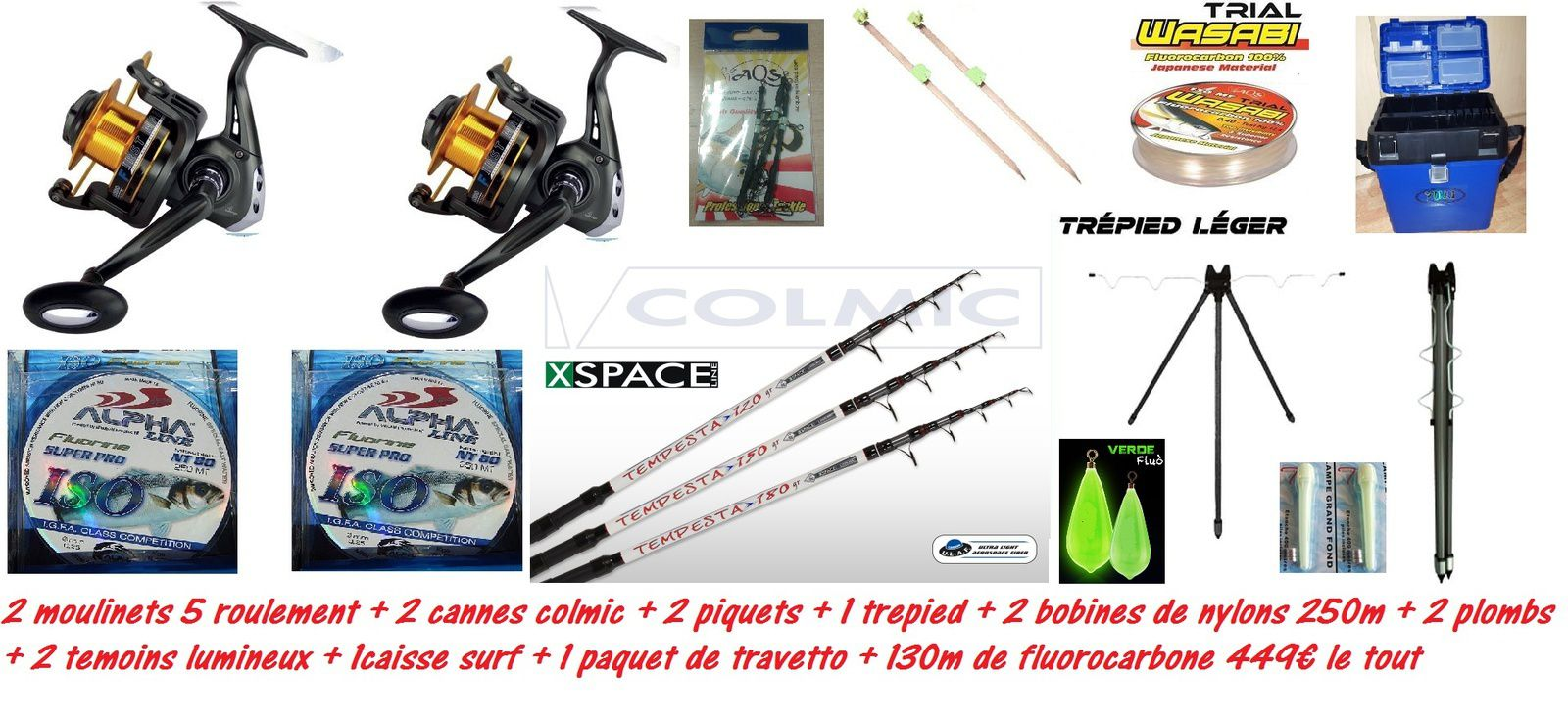 pack surfcasting 449€