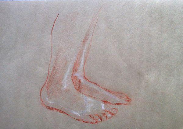 Quelques dessins à la sanguine à partir du cours de dessin en ligne Signus