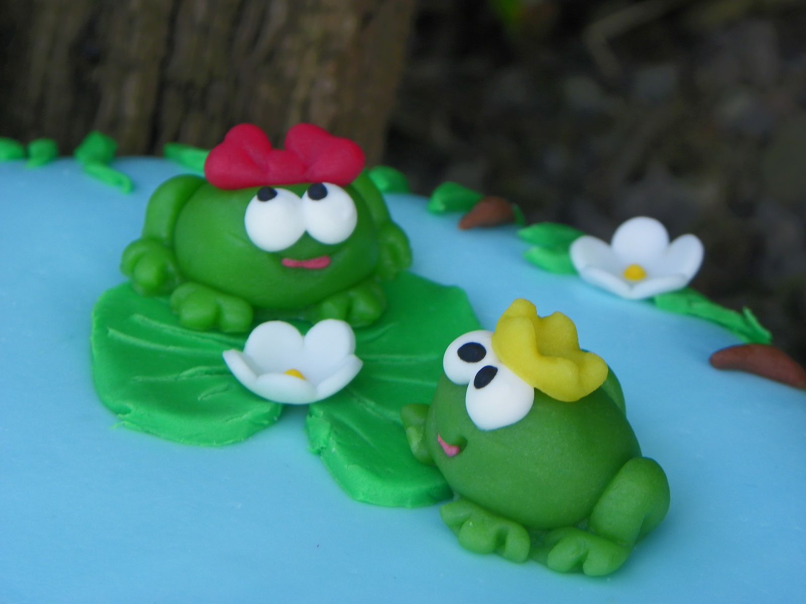 Gâteau grenouilles