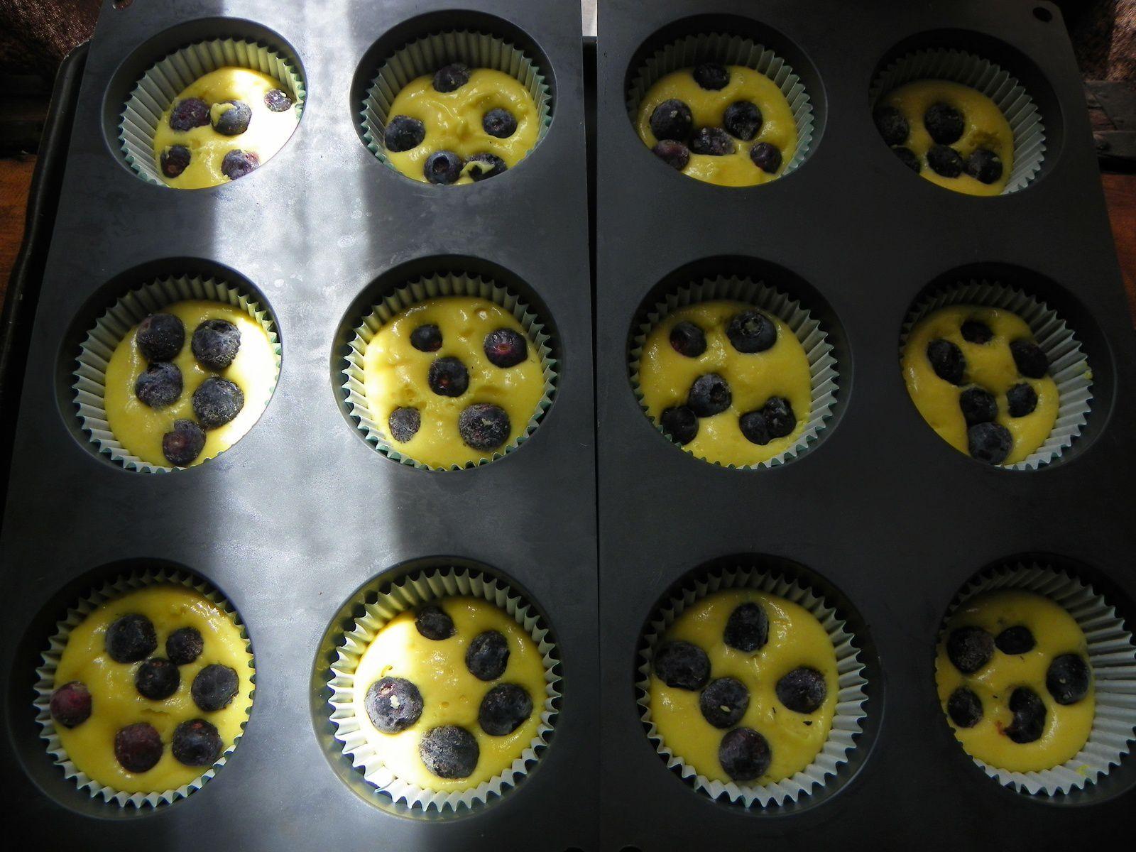 Cupcake aux myrtilles