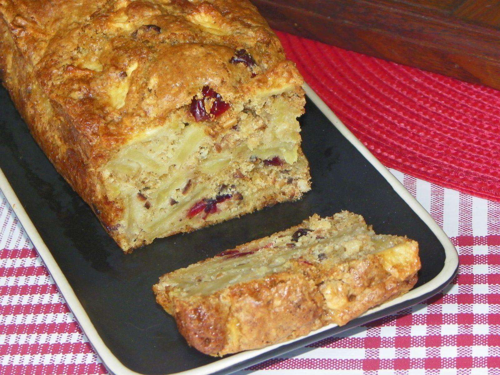 Cake norvégien aux pommes et aux cranberries