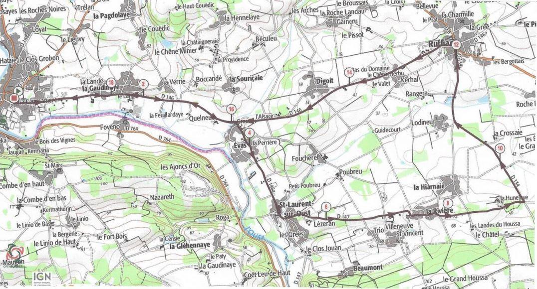 Le circuit du Contre-la-Montre de samedi - 19.5 km