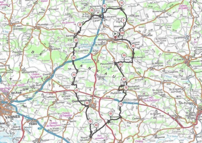 Le circuit de l'épreuve en ligne de dimanche - 100km